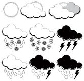 Symbols for weather forecasters Royalty Free Stock Photography