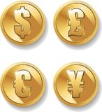 Currency Symbols Set royalty free illustration