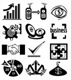 symbolsaffär royaltyfri illustrationer
