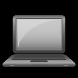 symbolsbärbar dator stock illustrationer