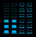 symbolsbärbar datorset Royaltyfri Foto