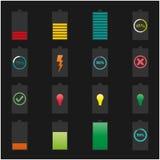 Symbolsbatterier, vektorillustration Fotografering för Bildbyråer