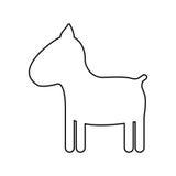 Symbolsbild för älsklings- djur Royaltyfri Foto