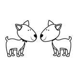 Symbolsbild för älsklings- djur Royaltyfria Bilder