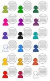 Symbolsfolk i färgtunnelbanadesign raster Royaltyfria Foton