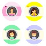 Symbolsfolk på kameran Arkivbild