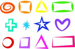symbolsform Arkivbild