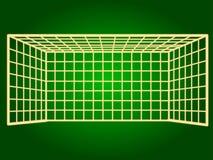 Symbolsfotbollport gör linjer tunnare Royaltyfri Fotografi