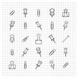 Symbolsgem av tunna linjer, vektorillustration Fotografering för Bildbyråer