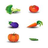 symbolsgrönsak Vektor Illustrationer