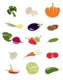 symbolsgrönsaker stock illustrationer