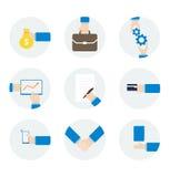 Symbolshandaffärsman med olika objekt Arkivbilder