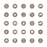 25 symbolsillustrationmedel ready samkväm för att använda Fotografering för Bildbyråer