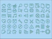 symbolsinternet Royaltyfri Bild