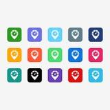 symbolsinternet, full färg för ilustration Arkivbilder