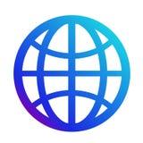 Symbolsinternet Symbol av websiten Jordklottecken Arkivbild
