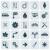 symbolsinternetpictograms ställde in vektorrengöringsdukwebsite stock illustrationer