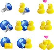 symbolsinternetrengöringsduk Royaltyfria Bilder