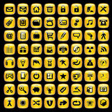 symbolsinternetset Royaltyfri Foto