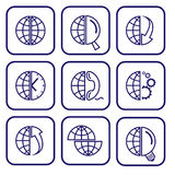 symbolsinternetvektor stock illustrationer