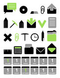 symbolskontorsvektor royaltyfri illustrationer