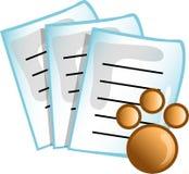 symbolsläkarundersökningen papers symbolveten Arkivbild