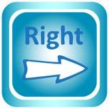 Symbolsljus - blått till rätten royaltyfri illustrationer