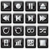 symbolsmedel metal spelare Arkivbilder