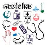 symbolsmedicinset Stock Illustrationer