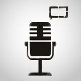 Symbolsmikrofon- och anförandebubbla Grafittistil Arkivbilder