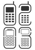 symbolsmobiltelefon vektor illustrationer