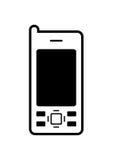 symbolsmobiltelefon Royaltyfria Bilder