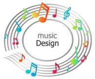 symbolsmusik stock illustrationer