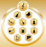 symbolsmusik Royaltyfri Bild
