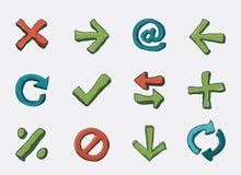 symbolsnavigeringset Arkivfoto