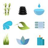 symbolsobjekt ställde in brunnsorten stock illustrationer