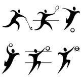 symbolsolympiska spelsportar Fotografering för Bildbyråer