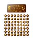 Symbolspacke i stora partier för lopp Arkivfoton