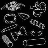 symbolspastaset royaltyfri illustrationer