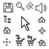 symbolsPC vektor illustrationer