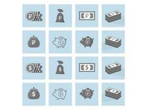 Symbolspengar royaltyfri illustrationer