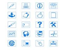 symbolsset vektor illustrationer