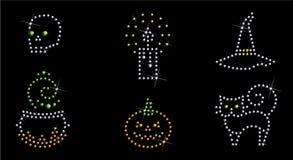 symbolsset för 2 halloween Royaltyfria Bilder