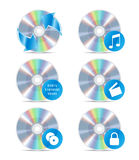 symbolsset för cd 3 vektor illustrationer