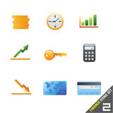 symbolsset för 2 finans Fotografering för Bildbyråer