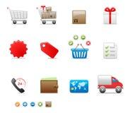 symbolsseten shoppar Fotografering för Bildbyråer