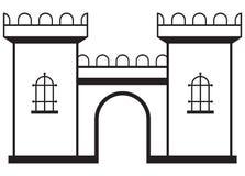 Symbolsslott stock illustrationer