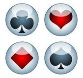 Symbolsspelrumkort för rengöringsduk Royaltyfri Foto