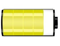 Symbolsstatus 80 för batteri 3d Arkivbilder
