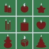 Symbolsstearinljus stock illustrationer